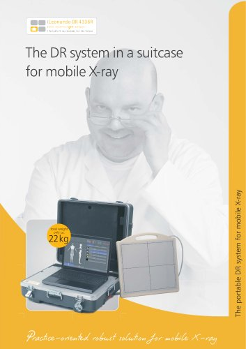 Leonardo DR 4336R The DR system in a suitcase for mobile X-ray