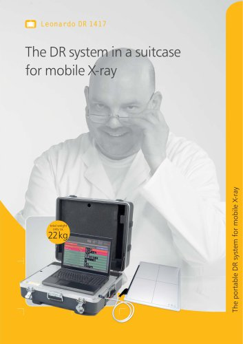 Leonarlo DR 1417 The DR system in a suitcase for mobile X-ray