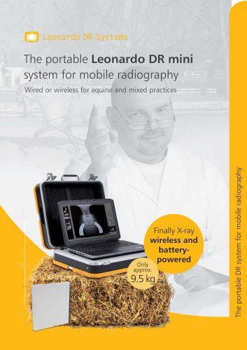 The portable Leonardo DR mini system for mobile radiography
