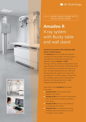 Product information universal X-ray system Amadeo R