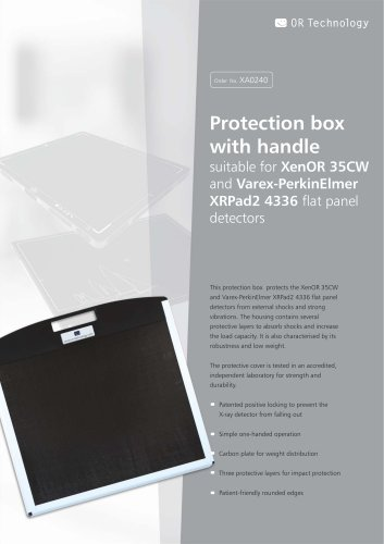 Protection box with handle suitable for XenOR 35CW and Varex-PerkinElmer XRPad2 4336 flat panel detectors