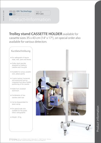 Trolley stand CASSETTE HOLDER