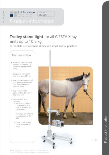 Trolley stand light for  all GIERTH X-ray