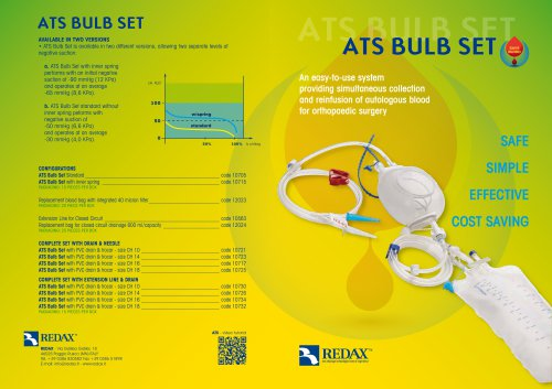 ATS BULB SET - Blood recovery system
