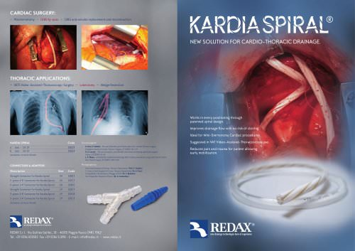 KARDIA SPIRAL - A fluted drain designed for cardio-thoracic drainage