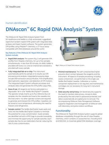 DNAscan™ 6C Rapid DNA Analysis™ System