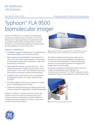 Typhoon FLA 9500 biomolecular imager
