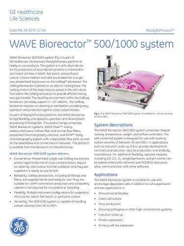 WAVE Bioreactor 500/1000 System
