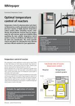 Optimal temperature control of reactors
