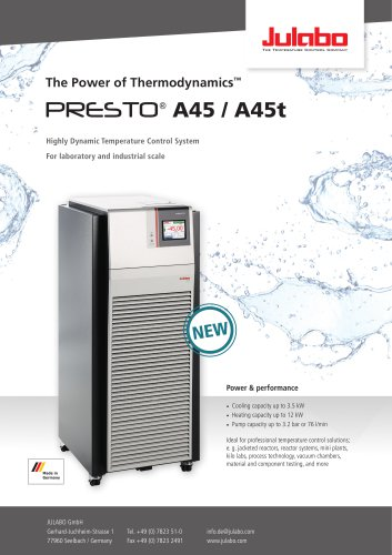 PRESTO A45 / A45t Process Circulators