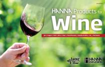 HANNA instruments Wine Testing Catalog
