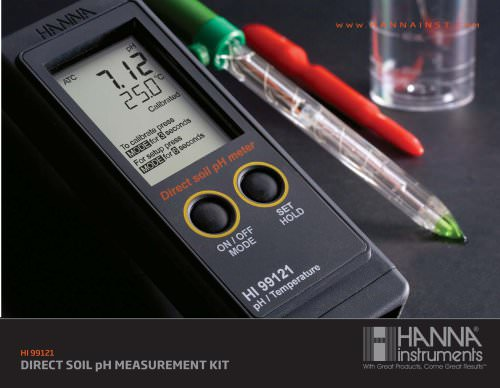 HI 99121N Direct Soil pH Meter