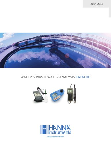 WATER & WASTEWATER ANALYSIS CATALOG