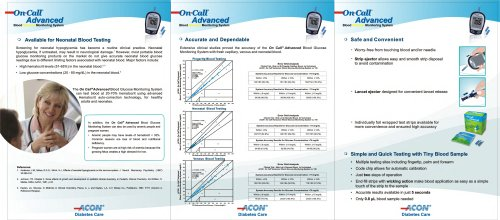 Glucose Meters / On Call® Advanced brochure (second part)