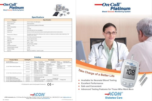 Glucose Meters / On Call® Platinum brochure