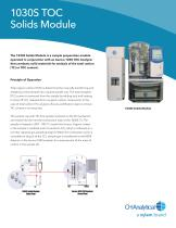 1030S Solids Analysis Module (for the Aurora 1030) Specification Sheet