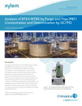 Analysis of BTEX-MTBE by Purge and Trap (P&T) Concentration and Determination by GC/PID