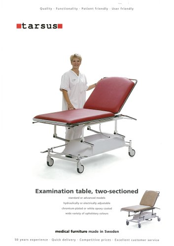 2-sectioned examination table