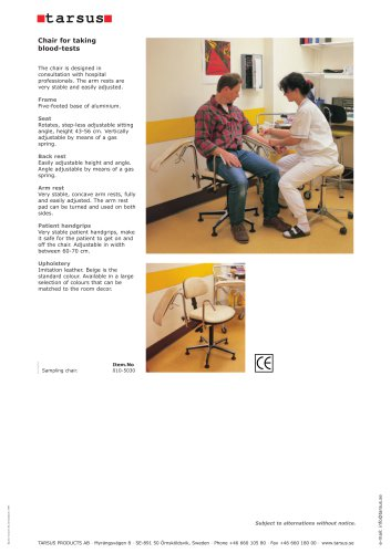 Blood Sample Chairs