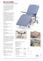 Three-sectioned examination table