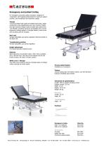 Two-sectioned emergency and patient trolley