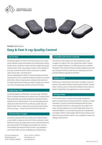Easy & Fast X-ray Quality Control