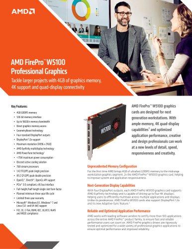 AMD FirePro™  W5100 Professional Graphics