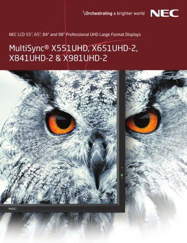 MultiSync® X551UHD, X651UHD-2, X841UHD-2 & X981UHD-2