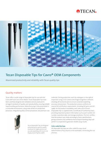 Tecan Disposable Tips for Cavro® OEM Components
