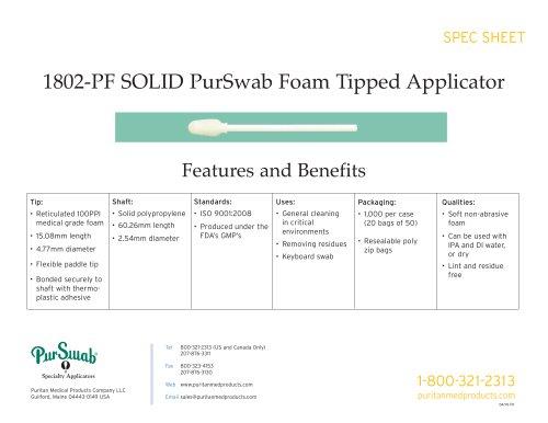 "2"" Foam Swab - 1802-PF SOLID"