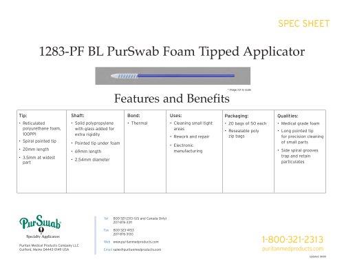 """3"""" Foam Swab - 1283-PF BL"""