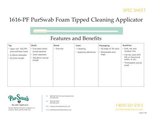 """6"""" Foam Swab - 1616-PF"""