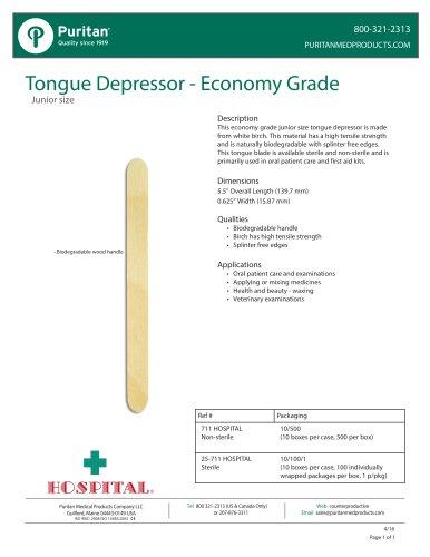 Tongue Depressor - Economy Grade