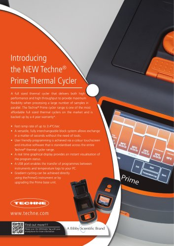 New prime Thermal Cycler Leaflet