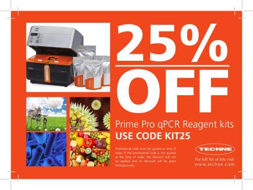 Prime Pro qPCR Reagent kits USE CODE KIT25