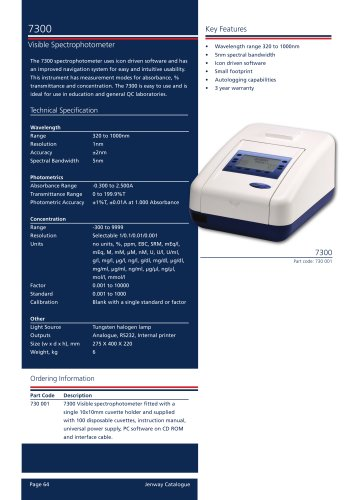 7300  Visible Spectrophotometer
