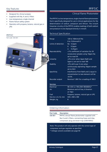 PFP7/C Research Flame Photometer