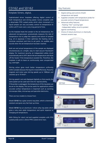 Hotplate stirrers, digital, CD162, SD162