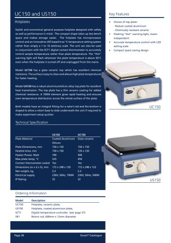 Hotplate UC150 and US150