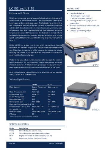 Hotplate with Stirrer, UC152 and US152
