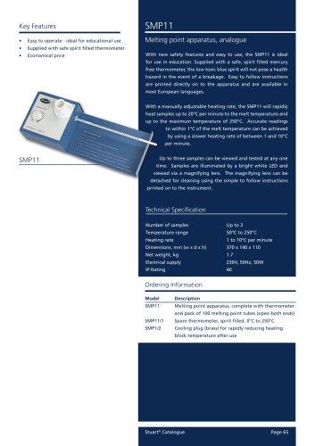 Melting Point Apparatus, Analogue, SMP11