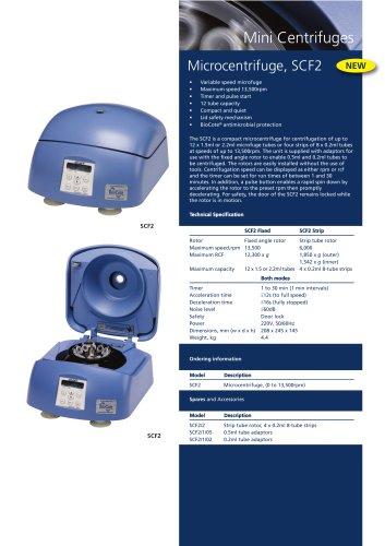 Microcentrifuge, SCF2