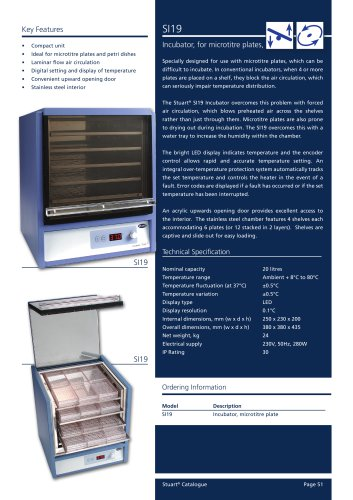Microtitre plate incubator, SI19