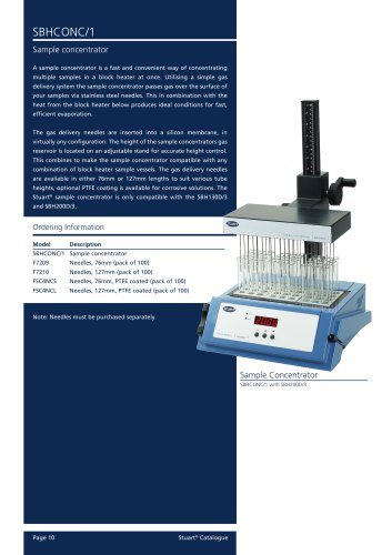 Sample Concentrator, SBHCONC/1