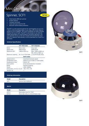Spinner, mini centrifuge - SCF1