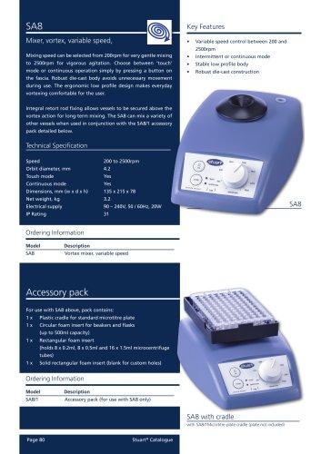 Vortex Mixers - SA7, SA8