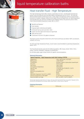 Heat transfer Fluid - High Temperature