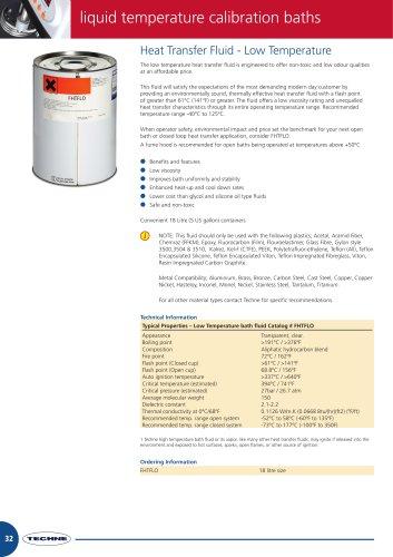 Heat Transfer Fluid - Low Temperature