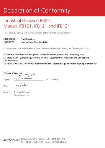Industrial Fluidised Baths Models IFB 101, IFB 121 and IFB 131