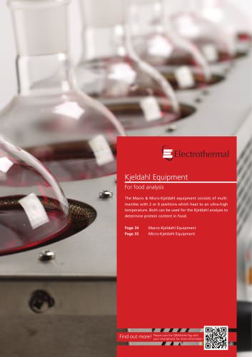 Kjeldahl Equipment For food analysis